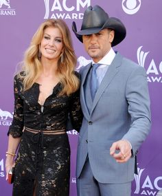 LAS VEGAS, NV - APRIL 07:  Singers Faith Hill and Tim McGraw arrive at the 48th Annual Academy Of Country Music Awards at MGM Grand Garden Arena on April 7, 2013 in Las Vegas, Nevada.  (Photo by Gregg DeGuire/WireImage) via @AOL_Lifestyle Read more: https://www.aol.com/article/entertainment/2017/05/02/alicia-keys-leaving-the-voice/22065956/?a_dgi=aolshare_pinterest#fullscreen