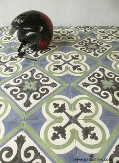 Sadus Tiles from Bali in 20 x 20cm color GMX green | Hand made ...
