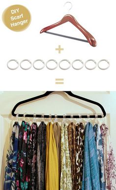 como organizar bufandas diy