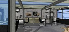 Proyecto  decorativo de oficinas, showroom y despacho para cliente en estilo industrial. Ünik Vintage Furniture