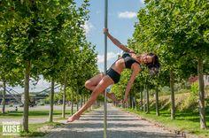 Street Pole Dance Shooting in Frankfurt mit Miri vom Tanzstudio VI-Dance