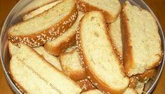Σφακιανά παξιμαδάκια Greek Sweets, Greek Desserts, Greek Recipes, Fun Desserts, Dessert Recipes, Greek Bread, Cyprus Food, Greek Cookies, Biscuit Recipe