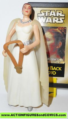 Kenner/Hasbro toys action figures for sale to buy STAR WARS: Power of the Force / POTF 1998 PRINCESS LEIA ORGANA ceremonial gown 100% COMPLETE (Even includes the bonus 'flashback' card) Condition: Exc