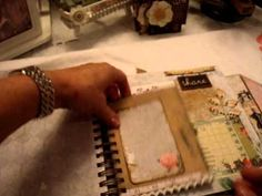 Journal made using Marion Smith 'District Garment' papers, etc.
