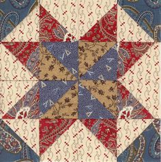 Civil War block... love the colors together~