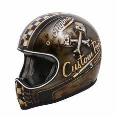 "PRMIER Trophy MX ""OP 9 BM"" retro motocross helmet with rusty used look and ECE safety standard."