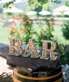 Wedding DIY:  Wine Cork Signs