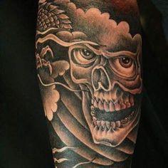 #tattoo #skull Skull, Tattoos, Artist, Tatuajes, Tattoo, Artists, Japanese Tattoos, Tattoo Illustration, Skulls