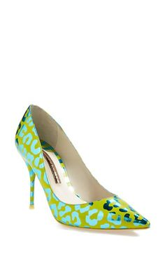 SOPHIA WEBSTER 'Lola' Leopard Mirror Pointy Toe Pump (Women) available at #Nordstrom