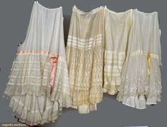 Augusta Auctions, April 17, 2013 - NYC, Lot 179: Four White Lawn Petticoats, 1890-1910