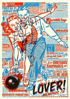 Gig Poster by Mart Infanger graphic design Gig Poster, Retro Poster, Typography Poster, Typography Design, Retro Graphic Design, Graphic Design Posters, Graphic Design Illustration, Graphic Design Inspiration, Graphic Art