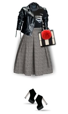 """Skirt and Boots"" by amymrbll ❤ liked on Polyvore featuring Leka, Rumour London, Giuseppe Zanotti and Les Petits Joueurs"