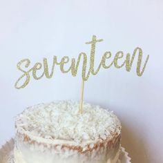 17th Birthday Cake Topper Seventeen Cake by TheLittlePopShop (Candy Cake Toppers)