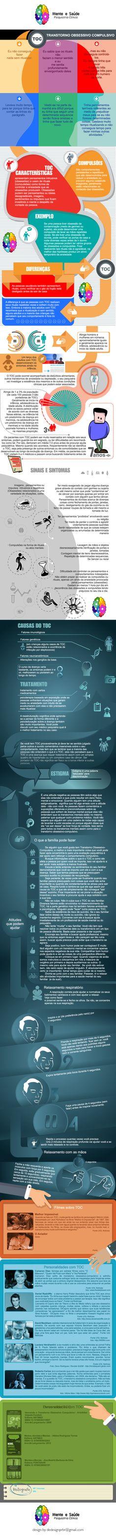 Design, Infografico, psquiatria, dicas, sintomas TOC, OCD, infographic, psychiatry, sintoms.