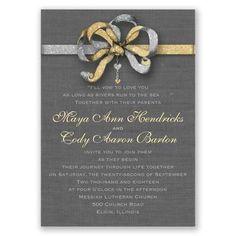 Faux Glitter Wedding Invitations