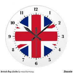 British flag clocks