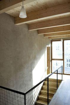 natural home - clay plaster walls, wood