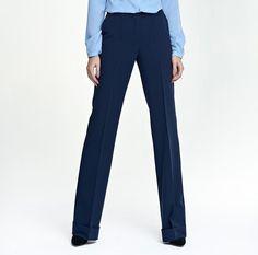 07b0b212aab4 Détails sur Pantalon mode femme bleu marine bootcut habillé NIFE SD26 zip 36  38 40 42 44
