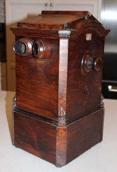 Beautiful Antique Becker Tabletop Stereoscope Viewer with-59-Stereoviews $595