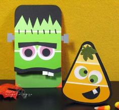 Paint chip monsters they are CUTE  http://www.fashionablyorganized.com/2010/07/wednesday-diy-organization-5/