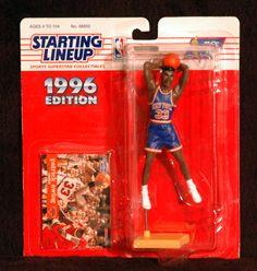 NBA New York Knicks Legend Patrick Ewing 1996 Starting Lineup Figure with Card