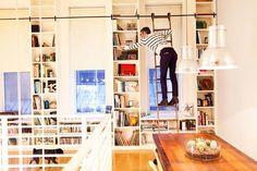 Bibliothèque + échelle !