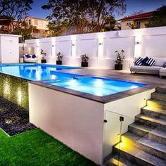 Above Ground Pool Landscape Designs Raised Lap Pool