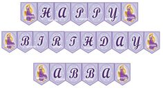 Rapunzel Tangled Birthday banner Rapunzel by SuperBirthdayParty Rapunzel, Repunzel Tangled, Tangled Birthday, Princess Birthday, Banner, Unique Jewelry, Handmade Gifts, Digital, Party Ideas