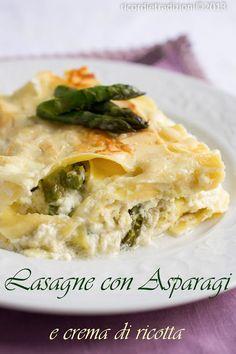 Lasagne con asparagi, crema di ricotta e provola affumicata
