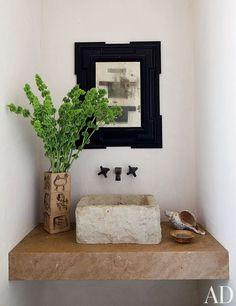 Contemporary Bathroom by Hallberg-Wiseley Designers in Malibu, California | archdigest.com