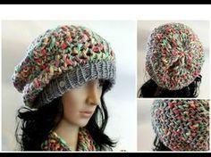 GORRO SLOUCHY Con Lana de Textura en Telar Redondo - Loom Knit Slouchy Hat  in Spanish 5757c6e7f9d