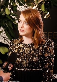 Awkward? Emma Stone, 28, and Andrew Garfield, 33, both attended the BAFTA Nespresso Nomine...