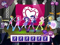 My Little Pony Equestria Girls games... Dance Off!!