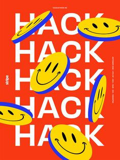 Mercedes Bazan designed the Hackathon Poster Series. This project consists of a series of posters created for the Hackathon at Stripe. Design Typography, Graphic Design Posters, Typography Poster, Graphic Design Inspiration, Lettering, Poster Designs, Vintage Graphic Design, Typographic Design, Game Design