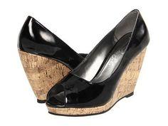 Romantic Soles Kalista Women's Wedge Shoes - Black Patent
