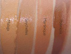 Groenland (light3) - meio de luz com um tom rosa / pêssego neutra St. Moritz (medium1) - médio, com um tom amarelo neutro Cuzco (Medium1.5) - médio, com um tom rosa / pêssego neutra Annapurna (Medium2) - médio, com um tom de pêssego neutra Cuba (Medium3) - médio, com um saldo neutro de rosa e amarelo undertones Malaga (Med / dark1) - medium-escuro com tons de caramelo quentes Seychelles (Med / dark2) - medium-escuro com tons verde-oliva douradas Mart velvet matte skin tint spf 30 swatches