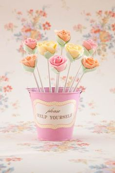 Floral cake pops - a great alternative to cupcakes - by Fancy Nancy