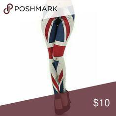 FREE 5th Shirt w Purchase British Cotton Leggings British Print leggings on premium cotton spandex. Made in USA Fifth Degree USA  Pants Leggings