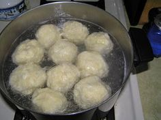 Hidden Passages: Made from Scratch - Bohemian Plum Dumplings. [This Pinner: Finally! Grandma used to make them when we came to visit. I didn't eat the prunes but loved the juicy stuff inside of these! Plum Dumplings, Bread Dumplings, Sweet Dumplings, Dumpling Recipe, Slovak Recipes, Ukrainian Recipes, Czech Recipes, Ethnic Recipes, German Recipes