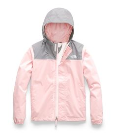 Girls' The North Face Resolve Reflective Waterproof Jacket - Pink Salt Jackets The North Face, North Face Girls, North Face Women, Cute Little Girls Outfits, Toddler Outfits, Cute Jackets, Jacket Brands, Windbreaker Jacket, Bomber Jacket