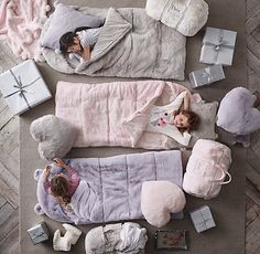 Luxe Faux Fur Hooded Sleeping Bag from Restoration Hardware...all little girls need one of these