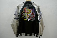 Dragon Sukajan Japan Embroidery Jacket by rushout89 on Etsy https://www.etsy.com/listing/279756052/dragon-sukajan-japan-embroidery-jacket