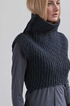 "This is a slightly ridiculous garment, however, I can imagine plenty of times when I might think, ""I'm slightly cold, but only my chest"" (or I am imitating the universe and continually expanding outward)"