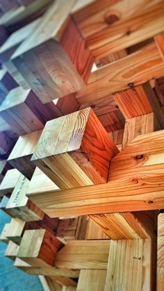 Structural wood joint example - detail