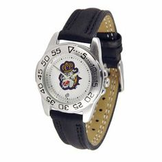 """James Madison Dukes Sport Leather Ladies NCAA Watch by SunTime. $42.30. Rotation Bezel/Timer. Scratch Resistant Face. Calendar Date Function. Attractive, High Quality, Hot Selling Officially Licensed Timepiece Sport Leather Ladies  Solid Stainless Steel 1.25"""" Diameter Case  Genuine Leather 8.25"""" Strap (Including Watch) With Buckle Clasp  Unidirectional Rotating Bezel  Shock Resistant  Luminous Hands  Date Display at 6 o'clock  Water Resistant to 30 Meters/100 ft.  Scratch Resi..."""