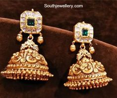bridal jewelry for the radiant bride Indian Wedding Jewelry, Indian Jewelry, Bridal Jewelry, Jewelry Gifts, Jewelery, Gold Jewelry, Engagement Jewellery, Gold Jhumka Earrings, Gold Earrings Designs