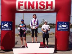 USA Triathlon Aquathon National Championship in Oklahoma in 2014. Hypercat Racing's Elaine Morison finished 2nd place F5054 earning the silver medal