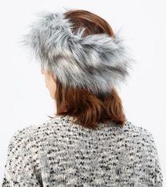Light Grey Faux Fur Headband