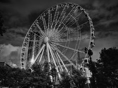 This is the SkyView Atlanta Ferris Wheel located next to Centennial Olympic Park in Atlanta, GA.