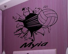 Volleyball Signs, Volleyball Workouts, Volleyball Quotes, Volleyball Bedroom, Sport Quotes, Sports Sayings, Sports Wall Decals, Volleyball Hairstyles, Volleyball Players